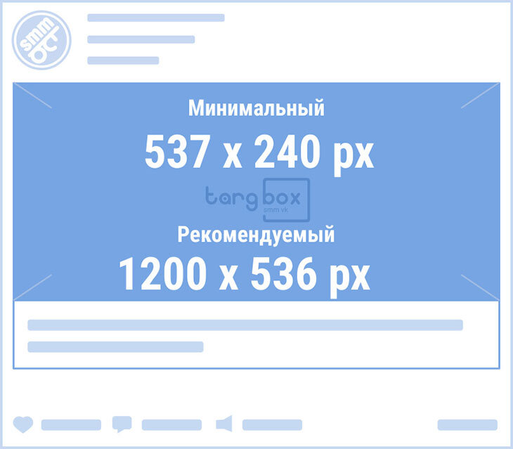 Размеры обложки сниппета для внешней ссылки ВКонтакте