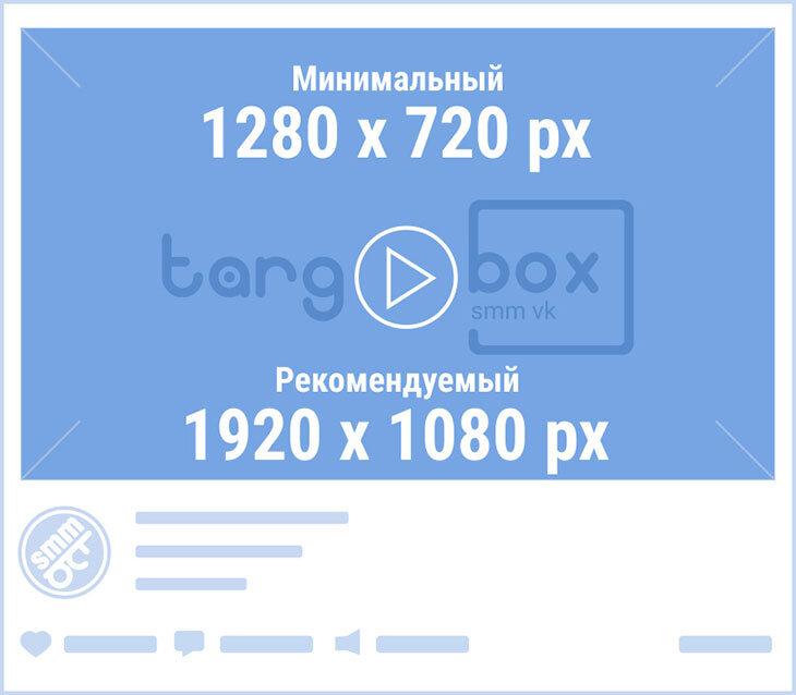 Размер видеозаписей и видео для сообщества ВКонтакте